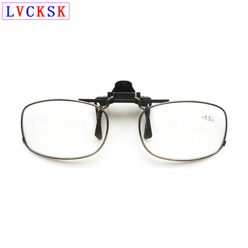 Portable Fishing Clip On Reading Glasses magnifier Men Women Clip Presbyopia Glasses Fullrim Rimless Spectacles 1 4 B3 in Women 39 s Reading Glasses from Apparel Accessories