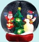 Надувные Рождественский подарок надувные снег Глобусы