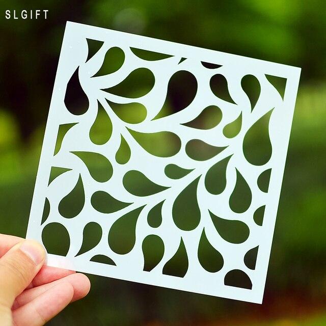 Diy Baum Blatt Design Schichtung Schablone für Malerei Scrapbooking ...
