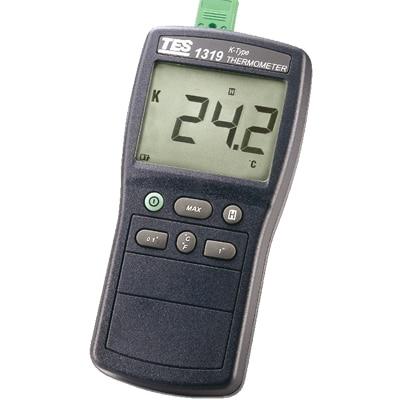 Быстрое прибытие TES 1319A цифровой термометр К типа: 50 1350 Цельсия 150 компл. данных Объём памяти