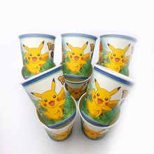 10pcs/lot Pokemon Pikachu supplies pikachu birthday Party Supplies Paper Cup Cartoon Birthday Decoration Baby Shower Kids favors