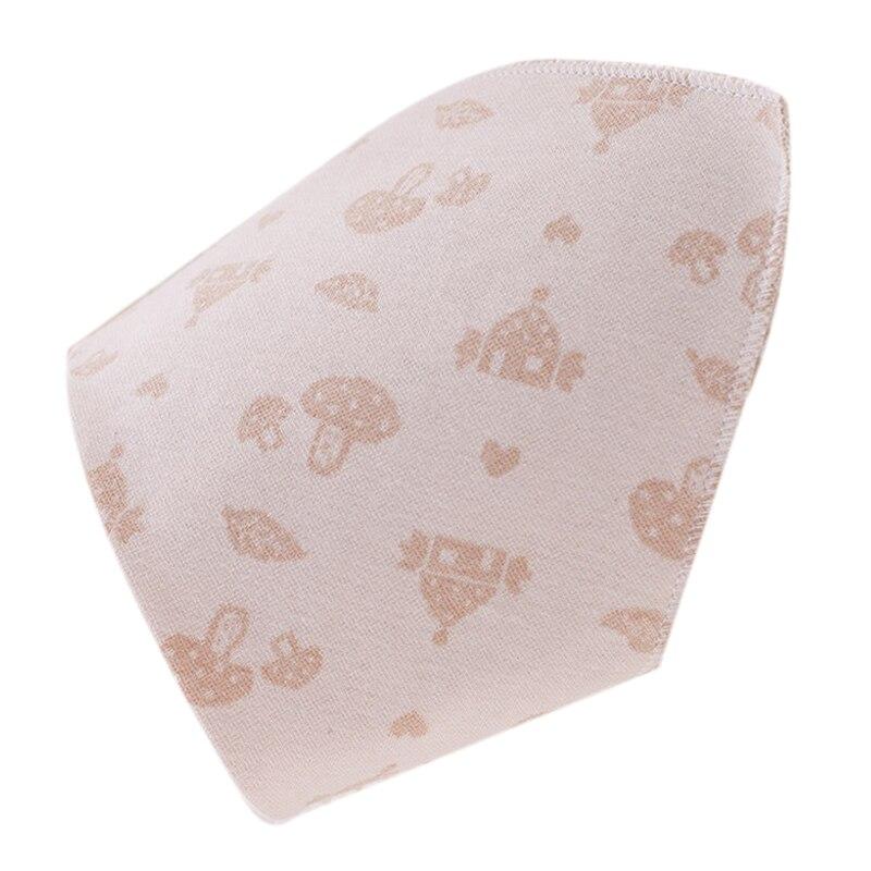insular Cotton Newborn Baby Bibs Soft Bib Burp Cloth For Babies Girls Boys Bib Babies Clothing Brown mushroom