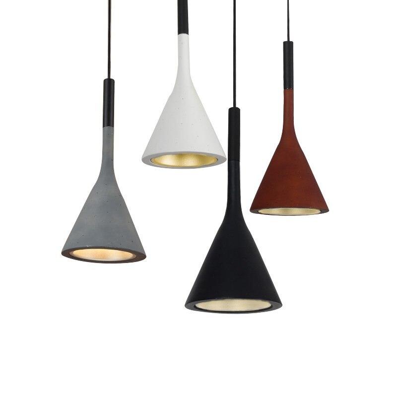 Modern pendant light Resin LED lighting fixture Nordic Restaurant office vintage bar cafe shop decoration indoor lamp AC110-265V
