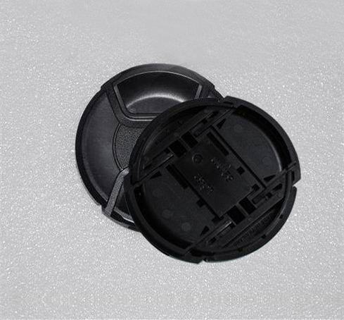 Wholesale 30pcs/lot 49 52 55 58 62 67 72 77 82mm center pinch Snap-on cap cover for canon/