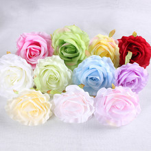 100pcs/lot 10cm Artificial Rose Flower Heads for Wedding Backdrop Flower Wall Decoration DIY Silk Rose Head for Kissing Ball 20 lot 10cm artificial silk cloth rose handmade party supplies wedding car decoration artificial flower