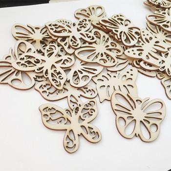 10 sztuk 2 cal kształt motyla prezent z drewna Tags wiszące ozdoby ozdoby DIY Craft za etykiety dekoracje ślubne tanie i dobre opinie Niedokończone Drewna wood Wedding Party Christmas