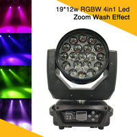 Hot Sale 19*12W RGBW Led Zoom Moving Head Stage Wash Light Powerful Beam Zoom Moving Head