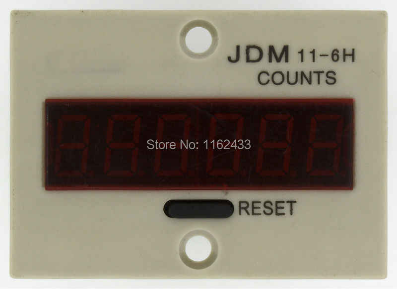 JDM11-6H 4 ピン AC 110 ボルト接点信号入力デジタル電子カウンターリレー JDM11 110VAC 生産カウンター