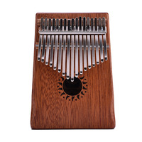 17 Key Kalimba Mahogany Thumb Piano Mbira Natural Mini Keyboard Instrument With Tuner Hammer Stickers Manual