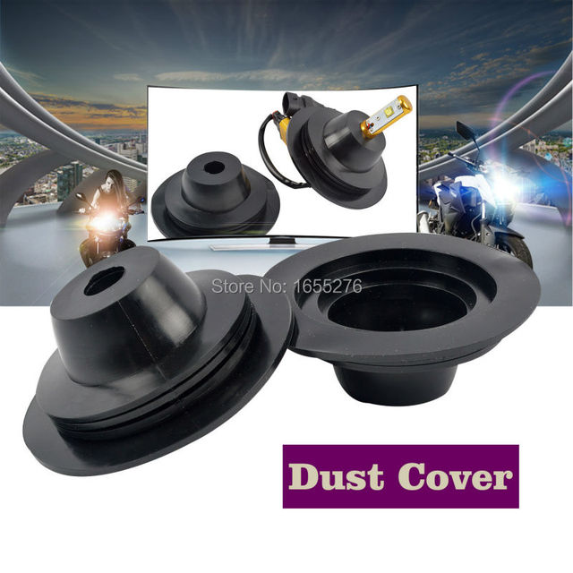 Taitian Pair Rubber Seal Cap Dust Cover for Car Truck LED HID Headlight Bulbs Retrofit