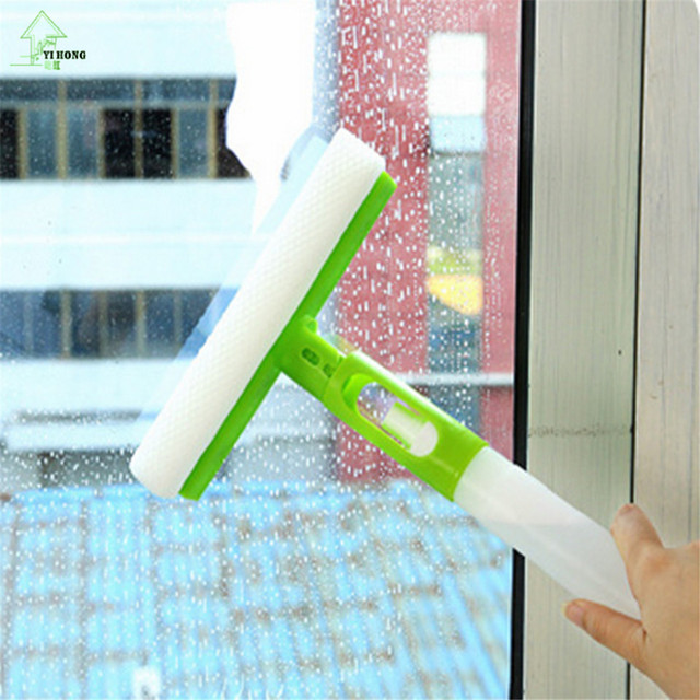 YI HONG Free Shipping Creative multipurpose integrated spray cleaning appliances, glass blowing scraping floor tile car brush 2c