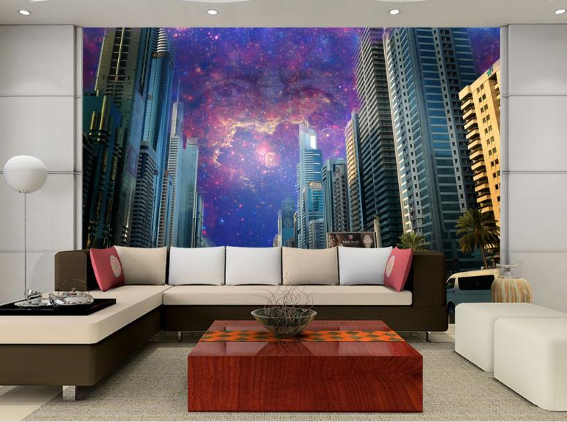 Customize Photo 3D Wallpaper Starry sky 3d Wallpaper Living room For Bathroom 3D Desktop Backgrounds
