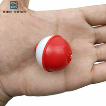 Easy Catch 25pcs ABS Plastic Fishing Float Ball Diameter 1inch 1.25inch 1.5inch 2inch Push Button Sea Fishing Floats Bobbers