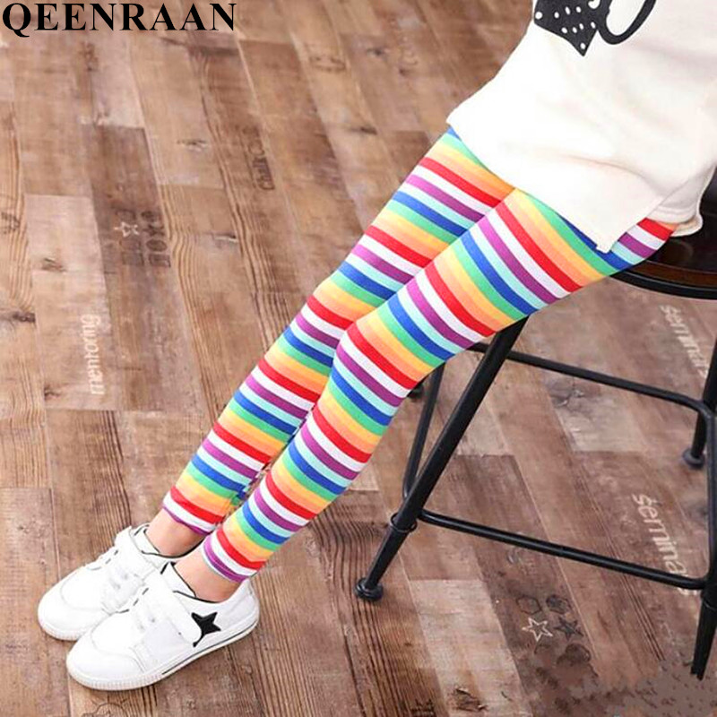Spring Summer Girls Leggings Baby Children Leggings Flower Print Toddler Classic Long Pants Kids Baby Leggings 2-11Y леггинсы для девочек children leggings 10pcs lot 3 12 10 summer lace leggings