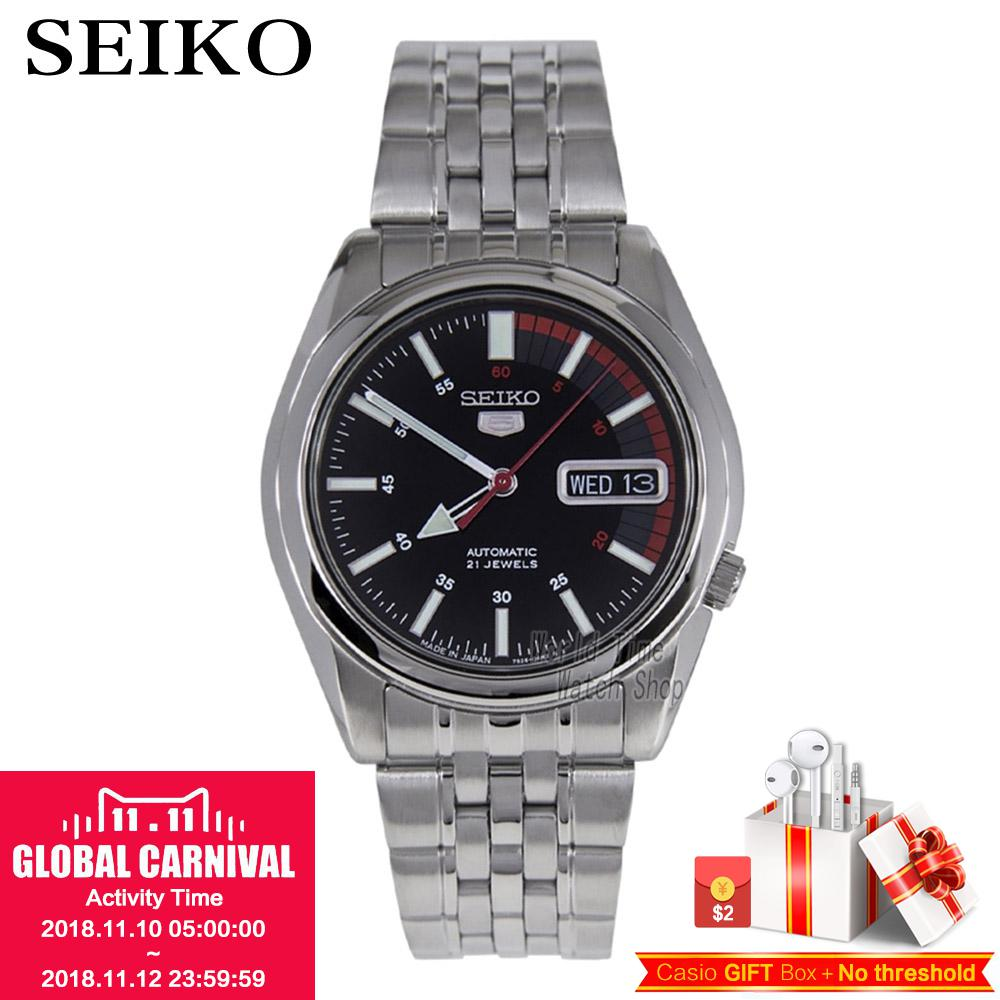 SEIKO Watch No. 5 Automatic Simple business casual automatic mechanical watch SNKK25K1 SNK369J1 SNK375J1 SNKK27J1 SNKK31J1 цена и фото