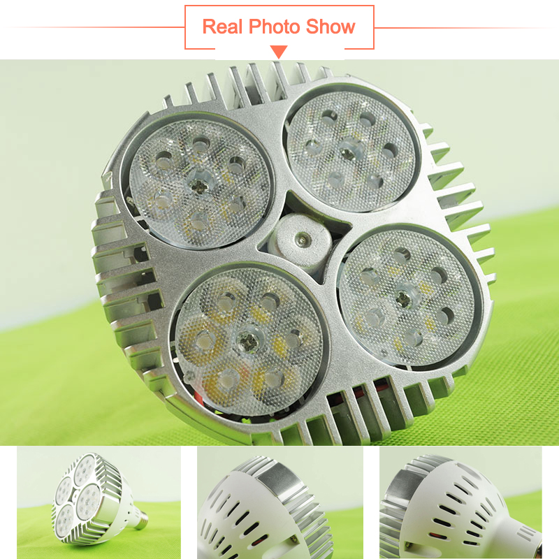 Купить с кэшбэком LED Lamp E27 par30 35W LED Spotlight AC 220V 240V led bulb par Lampara for home lighting Cold Warm White Red Green Blue Lampara