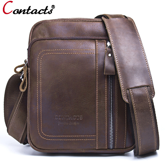 Contact's Genuine Leather Messenger Bag Handbag Famous Brand Crossbody Bags For Men's Bag Male Briefcase Men Shoulder Bag Small 2014 top selling multifunction messenger bags men crossbody bag small vintage famous brand men briefcase smb004
