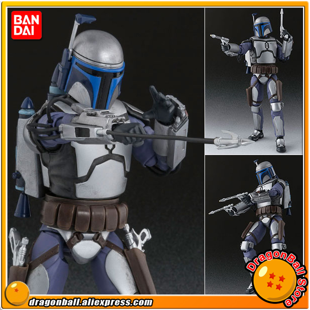 Anime Star Wars Original BANDAI Tamashii Nations S.H. Figuarts / SHF Action Figure - Jango Fett anime captain america civil war original bandai tamashii nations shf s h figuarts action figure ant man