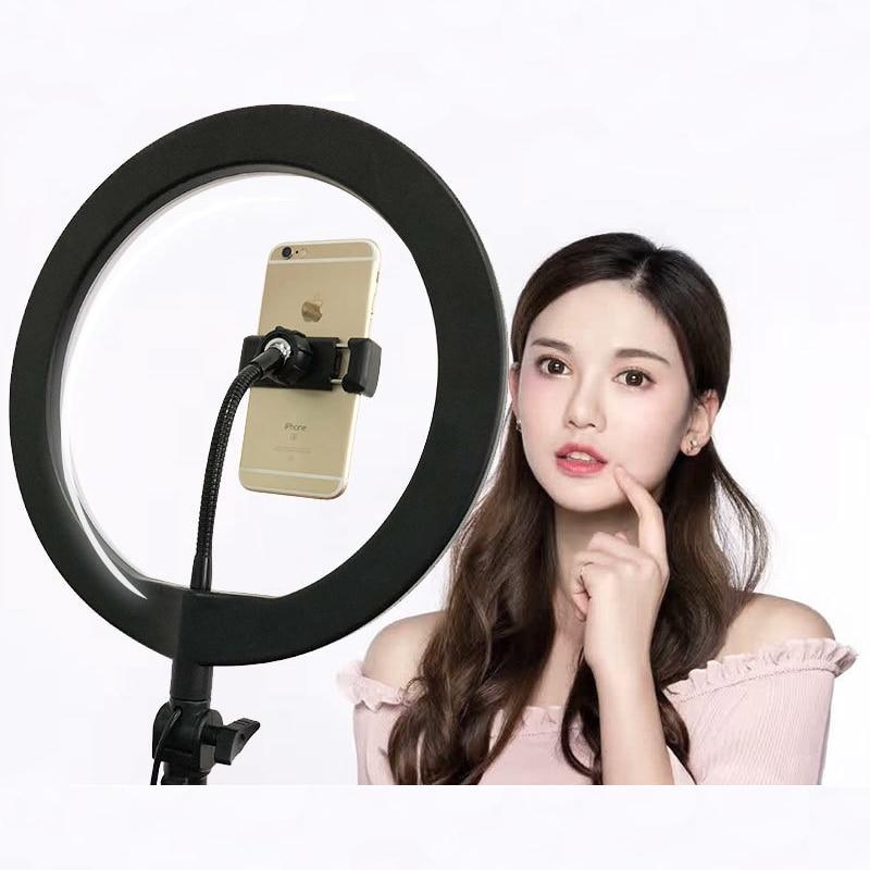 Inno photographie 26 CM LED Mini anneau + bras FlexibleTube + Clip téléphone ensemble pour téléphone LiveShow/maquillage beauté/remplissage éclairage Fotografia