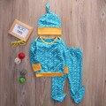 Новая Коллекция Весна Детская Одежда Мальчики девочки Одежда Наборы с длинным рукавом Футболка + брюки 3 шт. костюм младенческой одежды