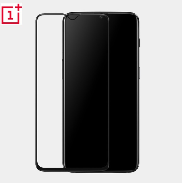 100% Original oneplus 6T glass 3D 9H Full cover tempered glass official oneplus screen protector glass for one plus 6T