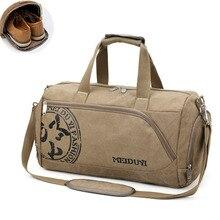 Sport Gym Bag Training Mens Fitness Bags Canvas Handbag Luggage Outdoor Sports Shoulder Bags Shoes Storage Gym Bag Tas XA353WA