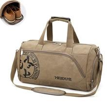 Shoulder-Bags Shoes-Storage Fitness-Bags Sport Handbag Luggage Gym-Bag Canvas Training