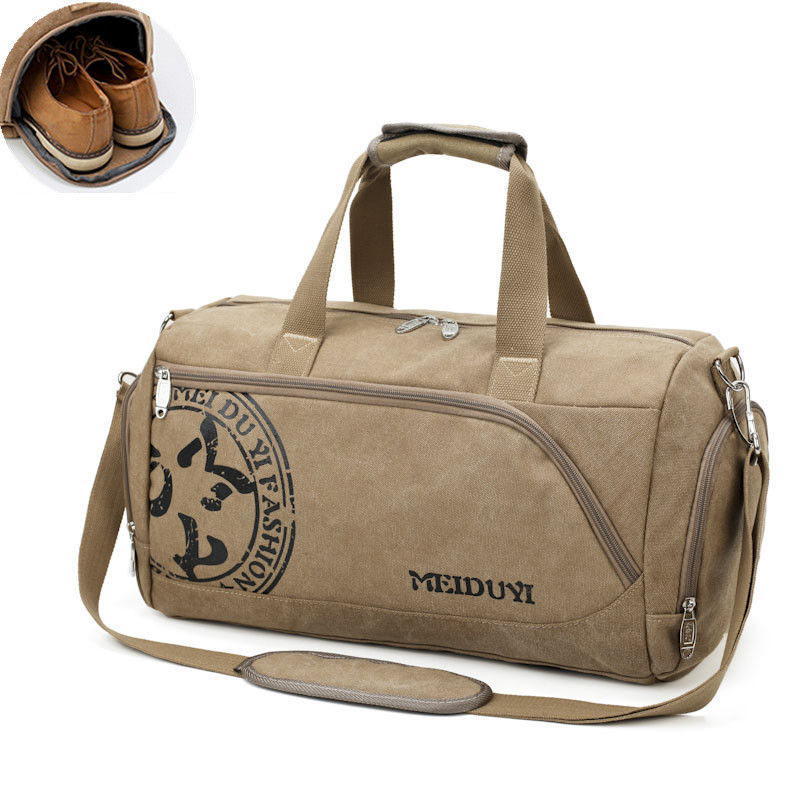Sport Gym Bag Training Men's Fitness Bags Durable Canvas Handbag Luggage Outdoor Sports Shoulder Bags Shoes Storage XA353WA