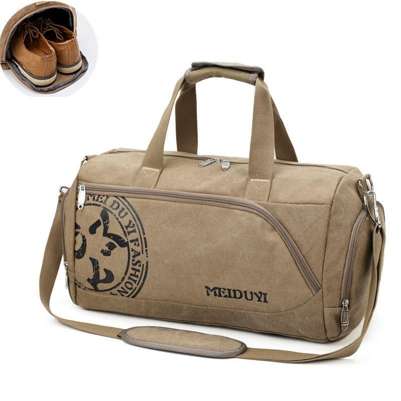 Sport Gym Bag Training Men's Fitness Bags Durable Canvas Handbag Luggage Outdoor Sports Shoulder Bags Shoes Storage XA353WA