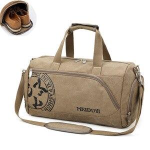 Image 1 - Sport Sporttasche Training Fitness Taschen Leinwand Handtasche Gepäck Outdoor Sport Schulter Taschen Schuhe Lagerung Sporttasche Tas XA353WA