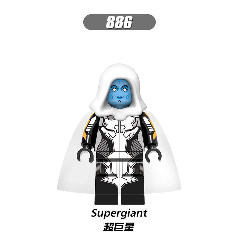 X0194 LegoINGly Formiga Vingadores Capitão Marvel Super Hero The aranha Homem De Ferro grout supergigante Vespa Blocos de Construção de Brinquedos Para Childre