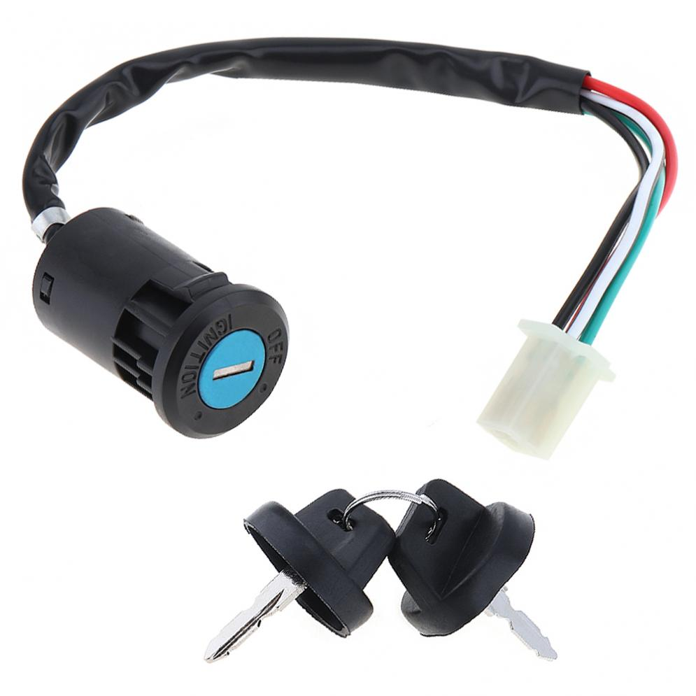 4 Wires Universal 2 Ignition Keys Start Switch Door Lock Key Motorcycle Accessories For ATV Go Kart Scrambling Motorcycle