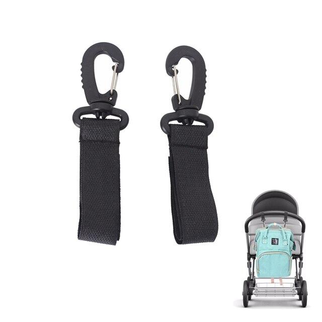 2pcs/lot Stroller Hooks Wheelchair Stroller Pram Carriage Bag Hanger Hook Baby Strollers Diaper Bag Clip Stroller Accessories