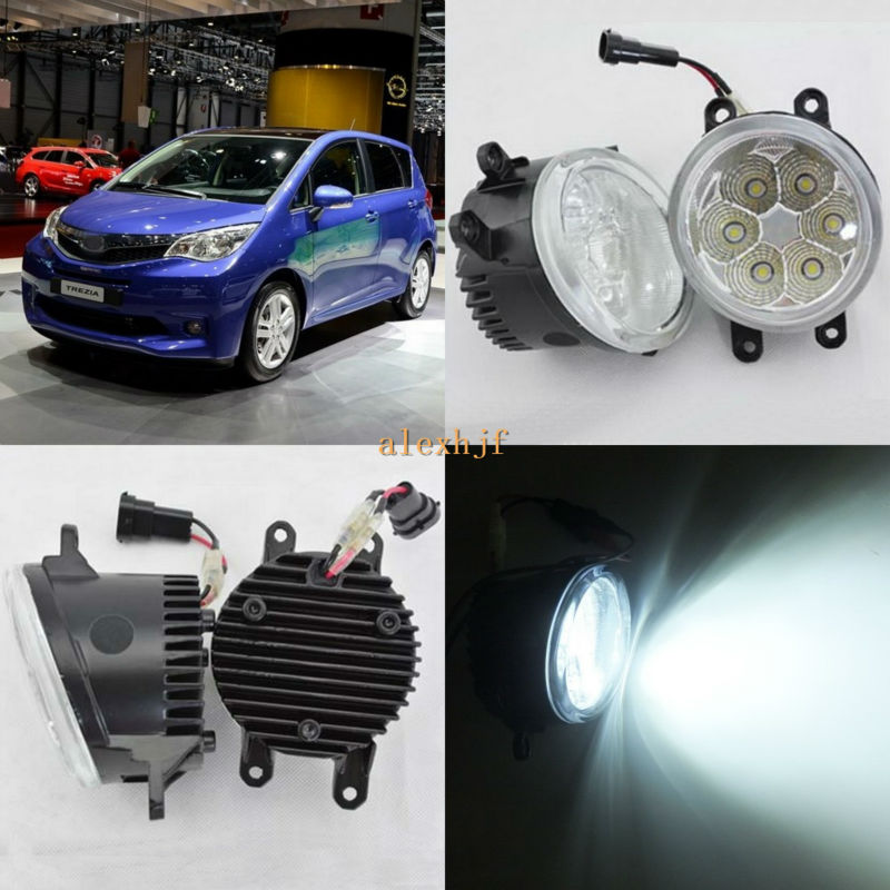 July King 18W 6500K 6LEDs LED Daytime Running Lights LED Fog Lamp case for Subaru Trezia 2011-2015, over 1260LM/pc july king 18w 6500k 6leds led daytime running lights led fog lamp case for peugeot 107 2012 2015 over 1260lm pc