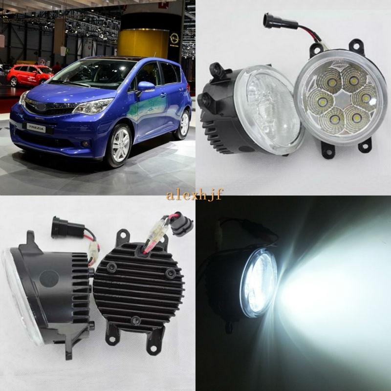 July King 18W 6500K 6LEDs LED Daytime Running Lights LED Fog Lamp case for Subaru Trezia 2011-2015, over 1260LM/pc