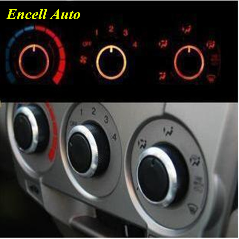 Hot Car AC Knob Air Conditioning Heat Control Switch Knob Aluminum Alloy Decoration Accessories For Honda City Crider Jazz Fit