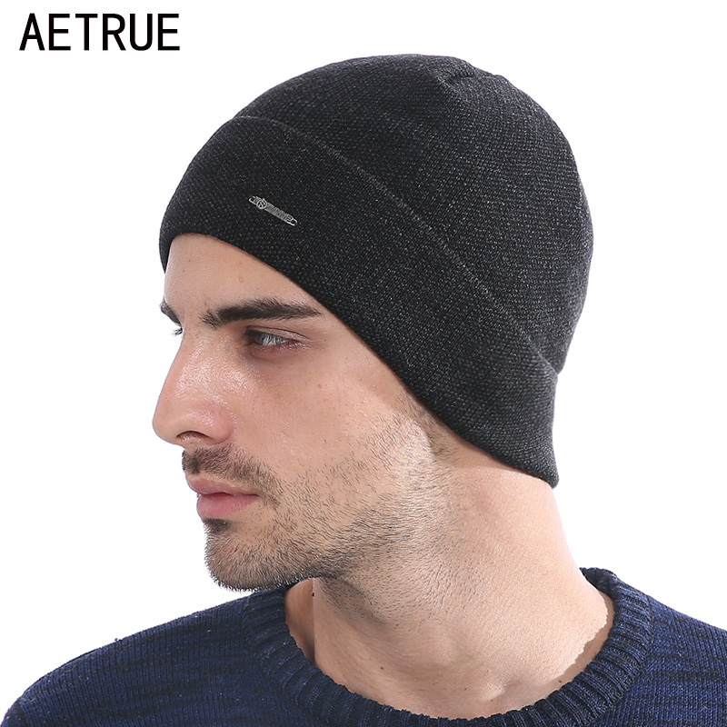 AETRUE Beanie Men Knitted Hat Winter Hats For Men Women Fashion Skullies Beaines Bonnet Brand Mask Casual Soft Skull Caps Hat