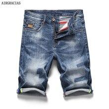 AIRGRACIAS Новое поступление Шорты Мужские джинсы брендовая одежда ретро ностальгия джинсовые Бермуды шорты для мужчин синие джинсы Размер 28-40