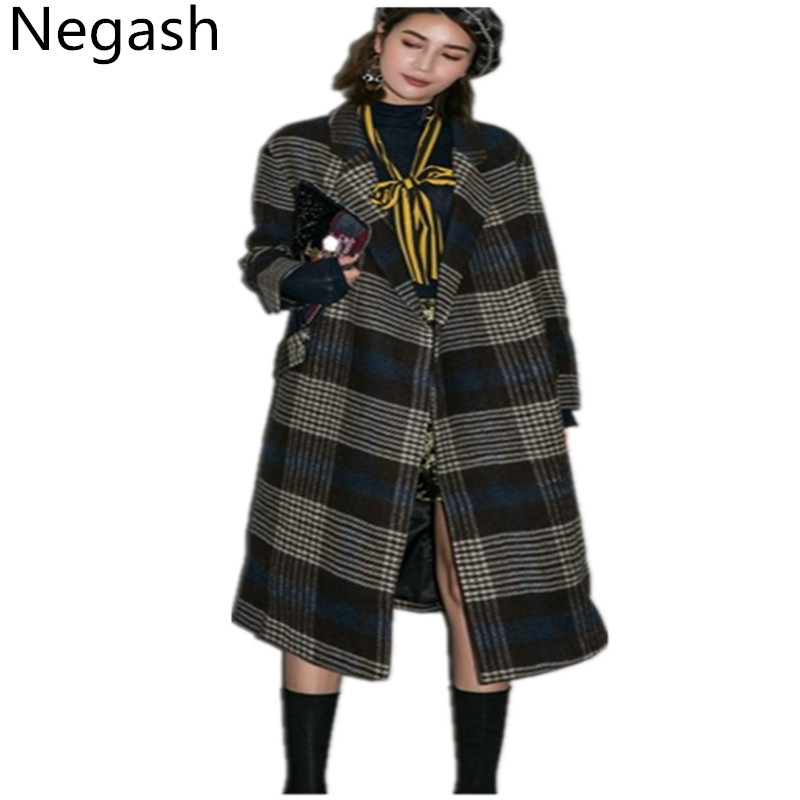Popular Plaid Wool Coats-Buy Cheap Plaid Wool Coats lots from ...