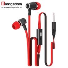 Langsdom JM21 In ear Earphone Colorful Headset Hifi Earbuds Bass Earphones for iPhone 6 6S Xiaomi