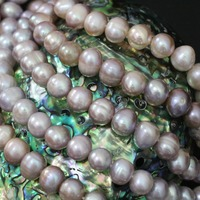 New Freshwater Purple Natural Round Pearl Beads High Grade Top Quality Hot Sale Women Jewelry Making