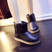 Новинка 2017 года женские зимние сапоги Водонепроницаемые зимние сапоги модные Мех Теплые ботильоны Сапоги и ботинки для девочек противоскользящие плоские ботинки