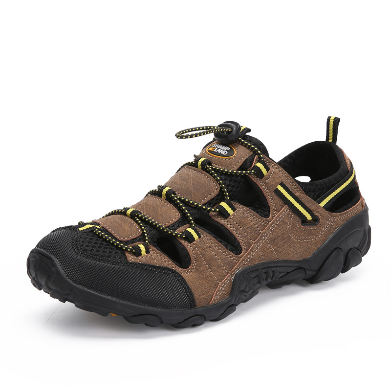 Summer Shoes Men Outdoor Sandals Breathable Beach Sandals Casual Shoes Anti-skid Flat Clogs Flip Flops Zapatos De Hombre