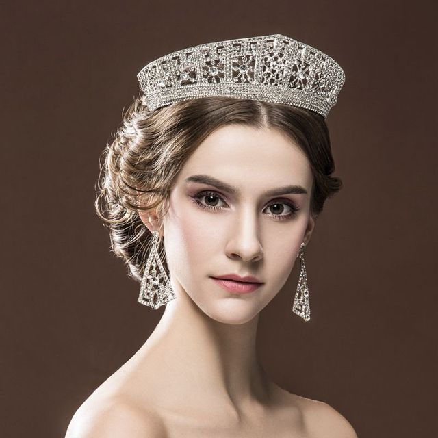 Super - US super - big Bride Bride European - style Crown Beauty Stage Headdress Retro Palace Queen Crown Female Wedding HG-G009