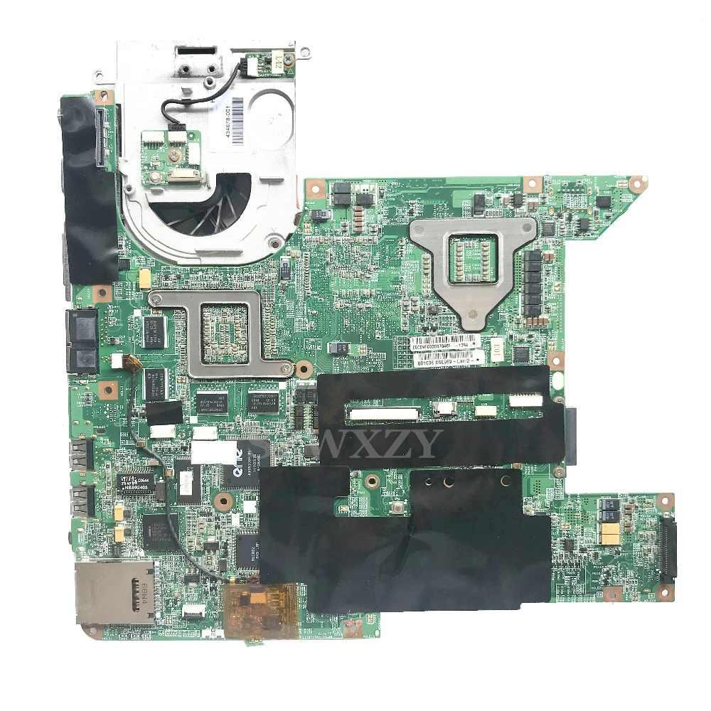 434659-001 HP Pavilion DV9000 Laptop Anakart DA0AT7MB8E7 Anakart CPU ve soğutucu fan