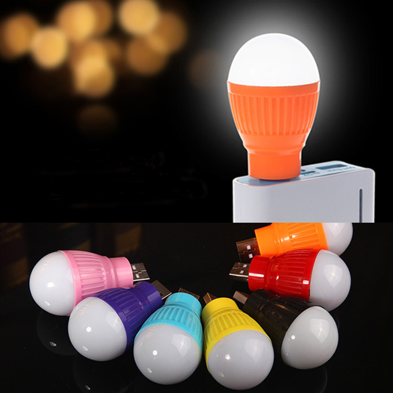 LED Bulb USB Book Lights Night Light Outdoor Flashlight Emergency Lamp For Laptop Readin ...
