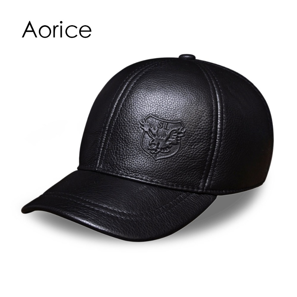 HL125 free shipping genuine leather baseball cap in men brand new warm real cow leather caps hats corporate real estate management in tanzania