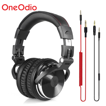 Oneodio Professional Studio Headphones DJ Stereo Headphones Studio Monitor Gaming Headset 3.5mm 6.3mm Cable For Xiaomi Phones PC 1