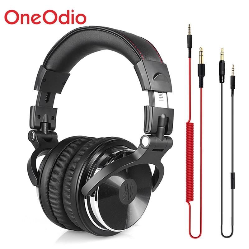 Oneodio Profissional Estúdio Fones De Ouvido DJ Monitor de Estúdio Fones De Ouvido Estéreo Gaming Headset Fone de Ouvido 3.5mm Cabo de 6.3mm Para Telefones Xiaomi PC