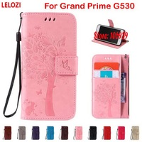 LELOZI Tree Star Cat Butterfly PU Leather Wallet Walet Case Bag For Samsung Galaxy Grand Prime